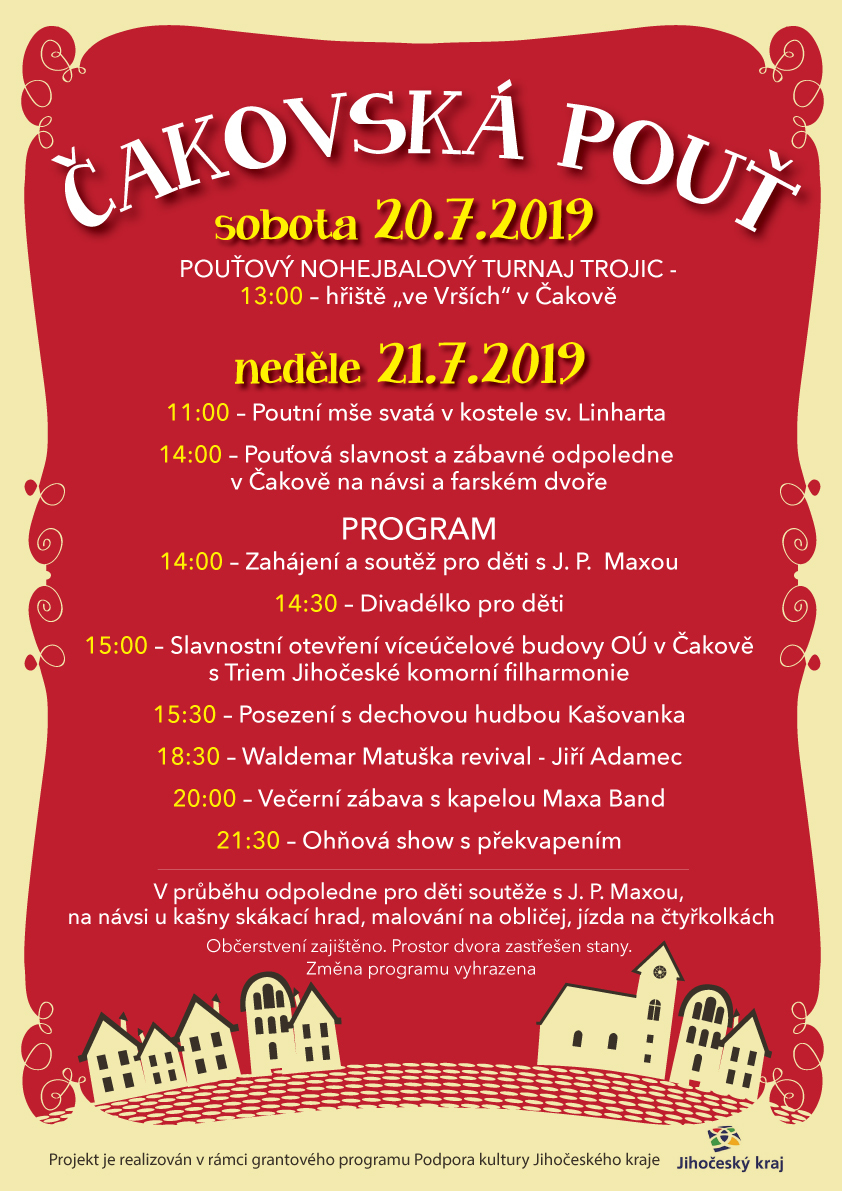 Pozvánka na Čakovskou pouť
