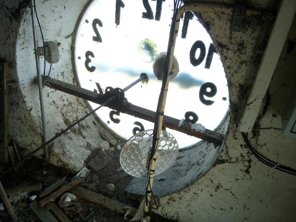 Generální oprava hodinového stroje z r.1930 v kostele sv. Linharta