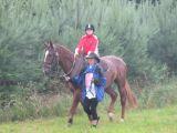 Koníci trpělivě vozili děti i v dešti...