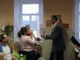 starosta  vítá do života v obci Ditu Brožovou z Čakovce